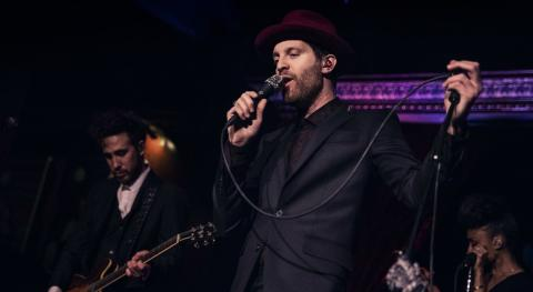 Mayer Hawthorne and band at The Cutting Room (photo by Caroline Inzucchi/WFUV)