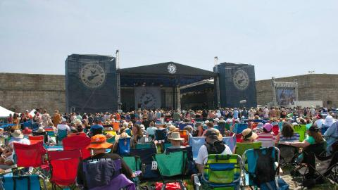 Newport Folk Festival Fort Stage (photo by Laura Fedele/WFUV)