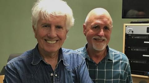 "Graham Nash and ""Sunday Supper"" host John Platt (photo courtesy of John Platt, WFUV)"