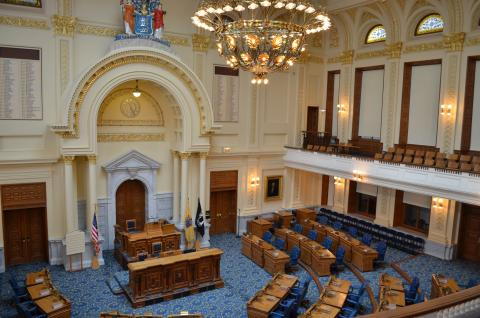 New Jersey State House General Assembly Chamber