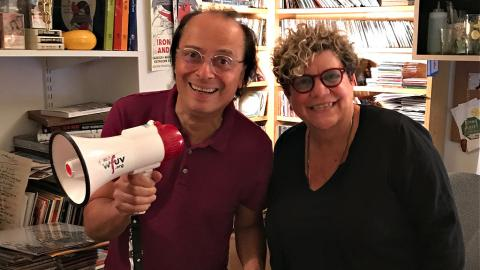 Paul Cavalconte and Rita Houston in 2018 (photo by Kerri Comerford for WFUV)