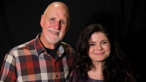"""Sunday Supper"" host John Platt and Rebecca Loebe (photo by FUV staff)"