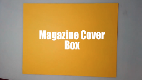 """OrigamiUSA President Wendy Zeichner shows the WFUV News audience how to fold a """"Magazine Cover Box""""."""