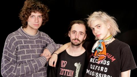 Sunflower Bean in Studio A (photo by Sabrina Sitton/WFUV)