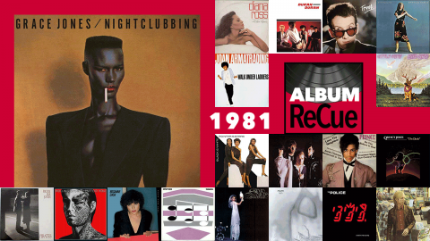 1981: Grace Jones Nightclubbing (collage by Laura Fedele for WFUV)