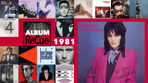 Joan Jett & the Blackhearts, I Love Rock 'n' Roll (collage by Laura Fedele for WFUV)