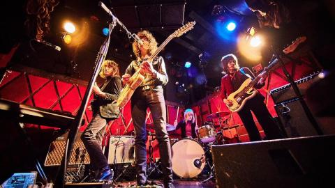 Temples at Rockwood Music Hall (photo by Gus Philippas/WFUV)