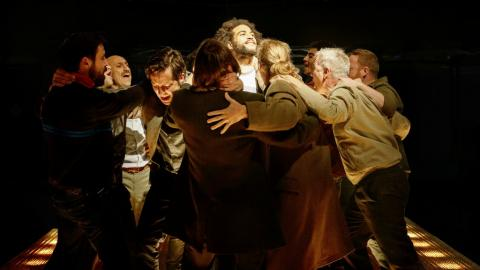 The cast of 'Fatherland' (photo by Manuel Harlan, courtesy of the MIF)