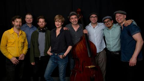 The Hot Sardines in Studio A (photo by Kay Kurkierewicz/WFUV)