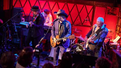 The Waterboys at Rockwood Music Hall (photo by Gus Philippas/WFUV)