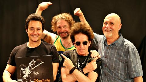 "Johnny Pisano, James Maddock, Willie Nile and ""Sunday Supper"" host John Platt (photo by Jeremy Rainer)"