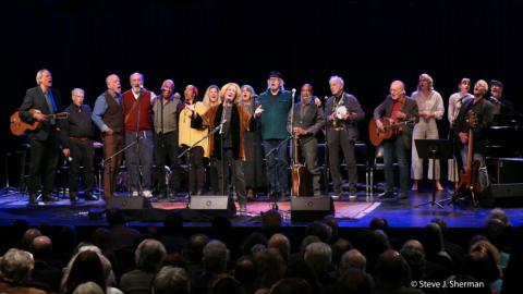 A full stage at the Woody's Children 50th Anniversary Concert (Photo: © Steve J. Sherman)