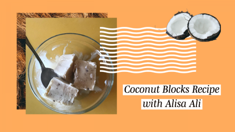 WFUV Midday Host Alisa Ali shows us how to create coconut blocks, a cold popsicle-like dish that is both sweet and refreshing.