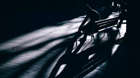 night-bench-alone