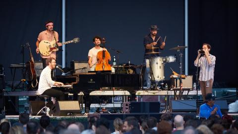Ben Folds, live from Forest Hills Stadium (photo by Gus Philippas for WFUV)