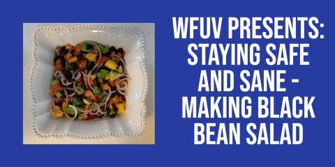 The final result of the black bean salad recipe!