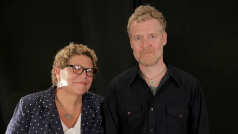 Glen Hansard and Rita Houston at WFUV