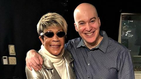 Bettye LaVette with Eric Holland at WFUV (photo by Kevin Kiley)