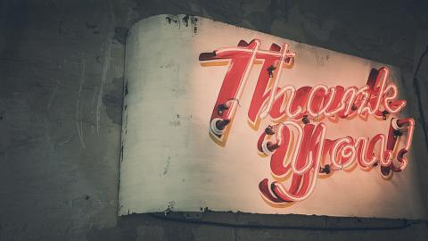 Thank you (photo by Ryan McGuire for Pixabay)
