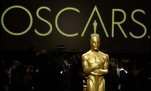 An Oscar statue is pictured at the press preview for the 91st Academy Awards Governors Ball