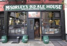 The front of McSorley's Old Ale House