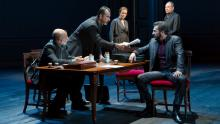 Anthony Azizi, Dariush Kashani, Jennifer Ehle, Michael Aronov and Daniel Oreskes (Photo by T. Charles Erickson from PR)
