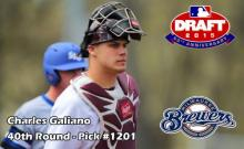 Fordham catcher Charles Galiano