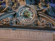clock outside the Grand Central Terminal