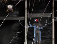 David Blaine Wraps Up High-Voltage Stunt in NYC
