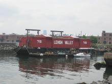 barge in Red Hook, Brooklyn