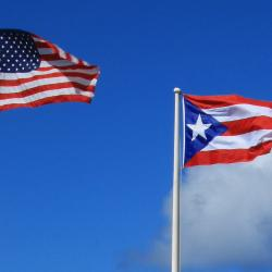 Flag of the  Flag of the United States and Puerto Rico.
