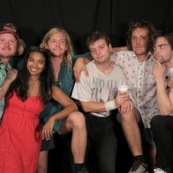 Mac DeMarco and band with Alisa Ali at WFUV