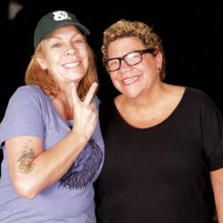Rickie Lee Jones and Rita Houston at WFUV