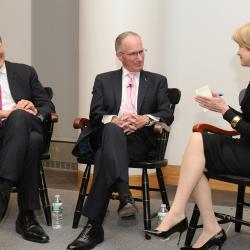 Charlie Rose, Mike 'Doc' Emrick, and Jane Pauley