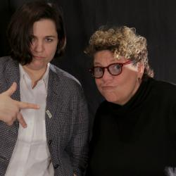 Jennifer O'Connor with Rita Houston at WFUV