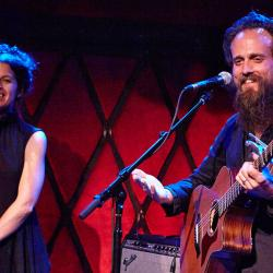 Sam Beam &Jesca Hoop in a WFUV Live performance at Rockwood Music Hall