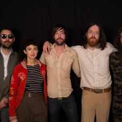 Okkervil River in Studio A (photo by Mary Munshower/WFUV)