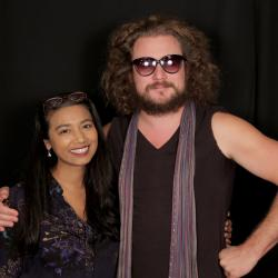 Alisa Ali with Jim James at WFUV