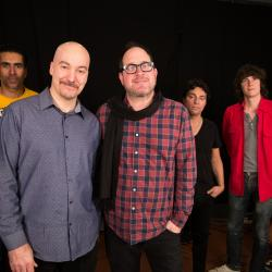 Eric Holland with Craig Finn and his band at WFUV