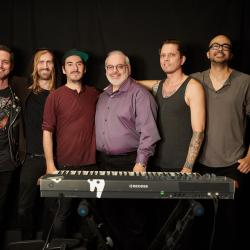 Dhani Harrison and band with WFUV's Darren Devivo