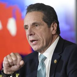 Andrew Cuomo at the state Capitol on Monday February 11
