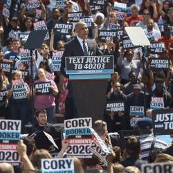 Senator Cory Booker on the campaign trail