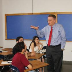 ATC students at orientation session with Prof. John Nichols