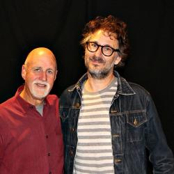"Adam Levy with ""Sunday Supper"" host John Platt (photo by Jeremy Rainer)"