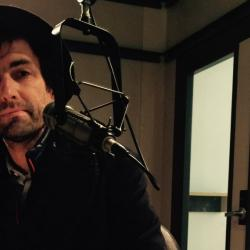 Guest DJ Andrew Bird at WFUV (photo by Rita Houston)
