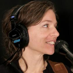 Ani DiFranco in Studio A (photo by Sarah Burns/WFUV)