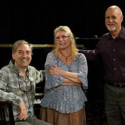 "Rave Tesar, Annie Haslam, and ""Sunday Supper"" host John Platt (photo courtesy of WFUV)"