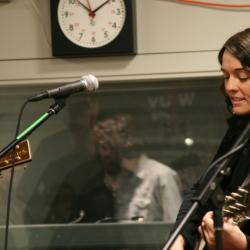 Brandi Carlile in Studio A (photo courtesy of WFUV)