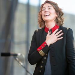 Brandi Carlile at the Newport Folk Festival (photo by Adam Kissick/NPR)