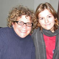 Rita Houston and Brandi Carlile in Studio A (photo courtesy of WFUV)